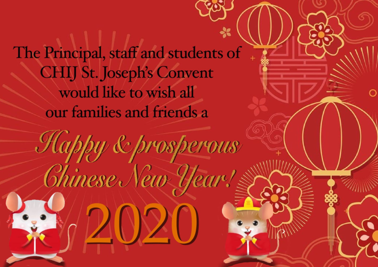 Happy & Prosperous Chinese New Year!